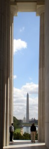 Washington Monument and Congress as seen from the Lincoln Memorial
